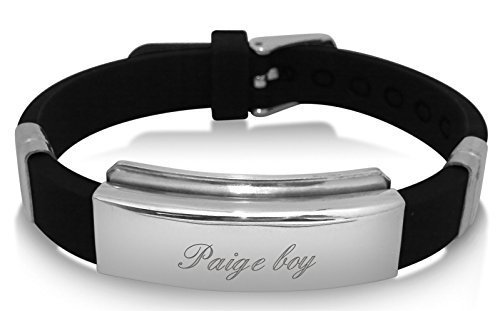 Paige Boy identity ID bracelet, personalised with up to 30 letters, ideal gift BR91