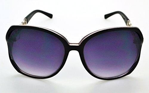 Vox tendance classique de haute qualité pour femme Hot Fashion Lunettes de soleil W/sans pochette en microfibre Pink Frame - Smoke Lens