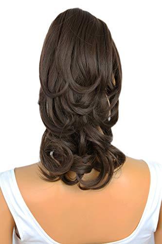 PRETTYSHOP Haarteil Hair Piece Zopf Pferdeschwanz Voluminös ca.35cm Hitzebeständig dunkelbraun #6 H131
