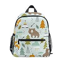 Bear Fox Childrens School Bag Kid