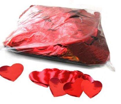 Coriandoli cuore rosso metallizzato 500 g.
