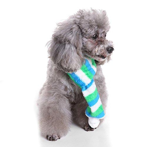 bismarckbeer Pet Hund Plüsch Neckwarmer Fuzzy Color Block Schal Puppy Urlaub Hals Zubehör -