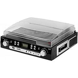 Technaxx 4350 - Tocadiscos (MMC, SD), negro
