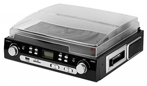 Technaxx 4350 Numériseur de disques et cassettes avec radio stéréo TX-22 Noir