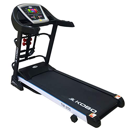 Kobo 2.5 H.P Motorised Fitness Treadmill TM-255 with 7 Inches TFT & Built in Android System with Inclination and Auto Lubrication with Warranty (2018 Model)