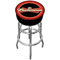 Trademark Gameroom Budweiser acolchado giratorio taburete de Bar