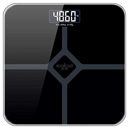 Digitale Personenwaage nach Hause elektronische Waage Nachtsicht genaue Gesundheit Waage mit einem Gewicht von Menschenwaage Gewichtsverlust bei @ Piano schwarz (berechnet) _53