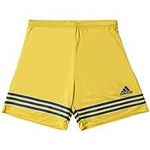 7af3490f2 Adidas Entrada 14, Pantaloncini Bambino, Multicolore (Giallo/Blu Acceso),  116