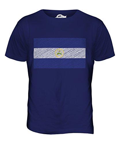 CandyMix Nicaragua Kritzelte Flagge Herren T Shirt Navy Blau