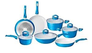 Jolta® Scheffler Batterie de cuisine avec casseroles et poêles à revêtement en céramique – 11pièces