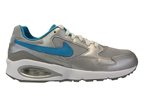 Nike Mädchen Air Max ST (GS) Laufschuhe, Schwarz Versilbert / Blau / Grün (Mtllc Silver / Bl Lgn-Elctr Grn)