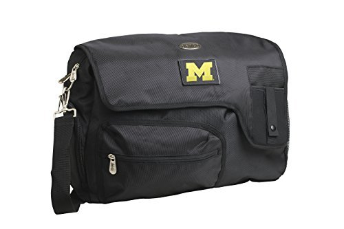 ncaa-michigan-wolverines-travel-messenger-bag-15-inch-black-by-denco