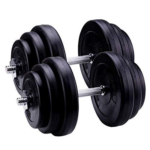 CCLIFE Hantel Kurzhantel 2er Set 20 30 40kg Gewichten Kunststoff Hantelset, Farbe:2 x 20KG