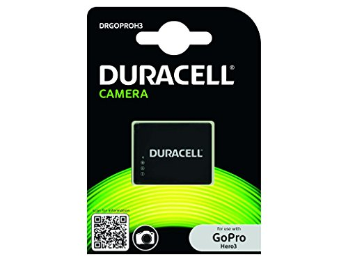 Duracell DRGOPROH3 Batteria per GoPro Hero3 AHDBT-301, Nero