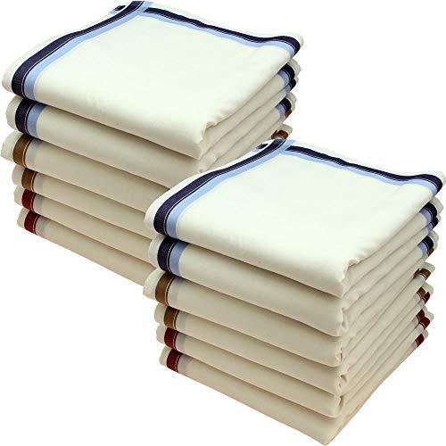 Ohne Marke Stofftaschentücher 12 Stück ca.40x40cm reine Baumwolle Herrentaschentücher (Charles)