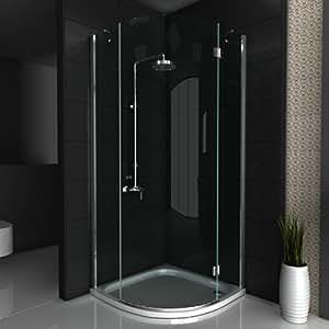 duschkabine viertelkreis dusche glasdusche ca 100 x 100 x 200 cm echtglas duschkabine. Black Bedroom Furniture Sets. Home Design Ideas