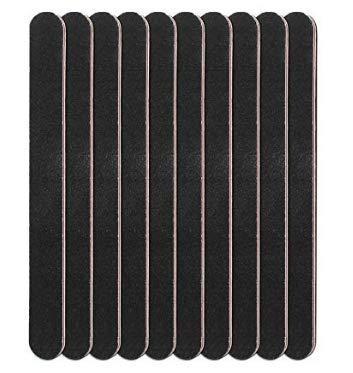 Nail Dateien waschbar doppelseitig Emery Board Nail Puffer Finger Maniküre Werkzeuge, Körnung 100und 180(10PCS)