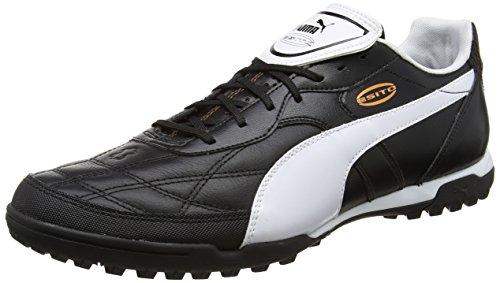 Puma Esito Classico Tt, Scarpe da Calcio Uomo, Nero (Black-white-bronze 01), 42.5 EU