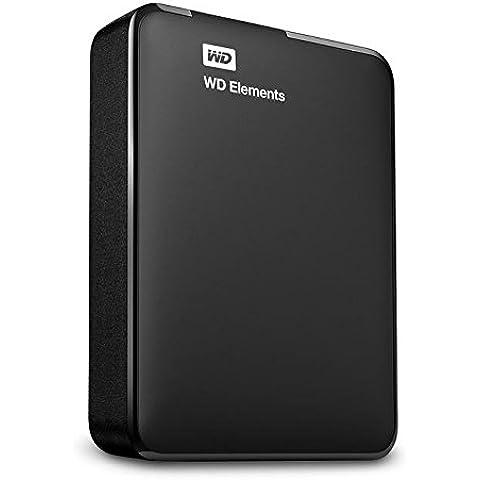 WD Elements - Disco duro externo portátil de 2 TB (USB 3.0), color negro
