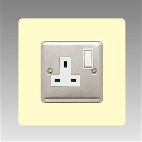 Einzel-Surround | Back Panel oder Finger Teller | 3mm | 16Farben (schwarz, grau weiß, elfenbeinfarben, blau, braun, grün und viele mehr) erhältlich | quadratisch | Lichtschalter Acryl, elfenbein