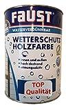 Faust Wetterschutz Holzfarbe innen&außen Seidenmatt 2,5 L Farbwahl, Farbe:Taubenblau