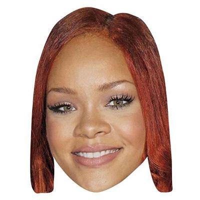 Celebrity Cutouts Rihanna Maske aus Karton