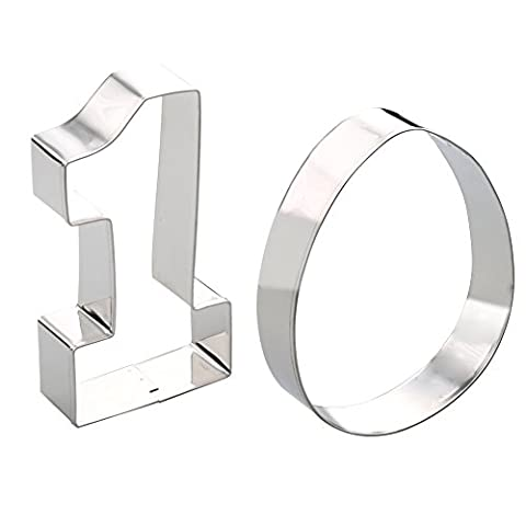 Magic Zone Large Number One #1 & Egg Cookie Cutters - 4.9 Inches, Made of Stainless Steel