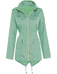 SS7 Size 10-24 New Size Womens Rain Mac Showerproof Raincoat Ladies Jacket Blue Hooded