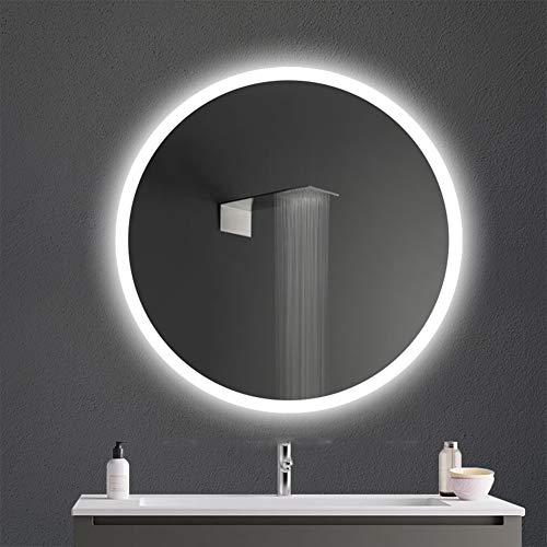 Bath Espejo de Pared Espejo Iluminación LED para Dormitorio Baño Tocador Redonda Sin Marco 50/60/70...