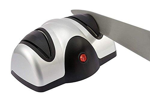 Wdj Messerschärfer | Elektrischer Messerschleifer | Zweistufiges Schärfer Mit 2 Schleifscheiben Zum Schleifen Und Schärfen Von Küchenmessern