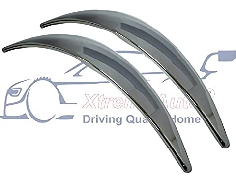XtremeAuto® 2 X Chrome Arch Trim Extensions Covers. Styling Accessory With Quality 3M Adhesive Backing. (Front / Rear)