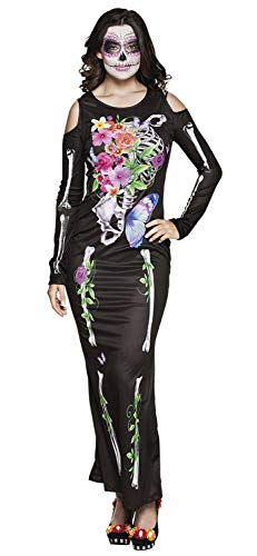 Boland 79087 Erwachsenenkostüm Señora Calaca Gr. 36/38, Damen, - Spanische Senor Kostüm