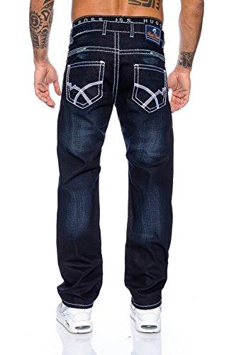 Creek rock homme avec coutures blanches épaisseur 2045–rC Bleu - Bleu