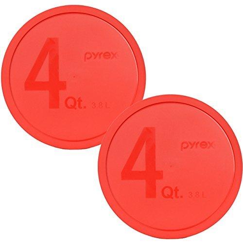 Pyrex 326-PC Deckel aus Kunststoff, rund, für 4 Quart Rührschüssel (nicht im Lieferumfang enthalten), Rot, 2 Stück (Glas Rührschüsseln Anchor Hocking)