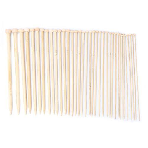Juego de alfileres de tejer de bambú