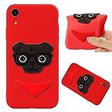 COZY HUT iPhone XR Cover - Custodia in Silicone TPU - Ultra Sottile - 3D Cartoon Cucciolo - Copertina Protettiva Back Case Backcover per iPhone XR - Cucciolo Rosso