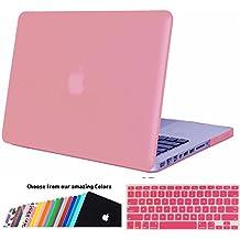 MacBook Pro 13 Funda,iNeseon(TM) 2 in 1 [Frosted Series]Ultra Delgado Carcasa Dura Shell Case US Versión Rosa e EU Versión Transparent Cubierta del Teclado para Apple MacBook Pro 13/13.3 pulgada Aluminio Unibody con CD-ROM Drive Modelo:A1278,No para MacBook Pro 13 con Retina Display(Rosa)