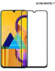 GLYNO INFOTEL™ 6D Full Glue Edge-to-Edge Coverage [9h Hardness][HD Clear] Screen Protector Tempered Glass for Samsung Galaxy M30s - (Black Edition)