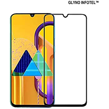 GLYNO INFOTELTM 6D Full Glue Edge-to-Edge Coverage [9h Hardness][HD Clear] Screen Protector Tempered Glass for Samsung Galaxy M30s - (Black Edition)