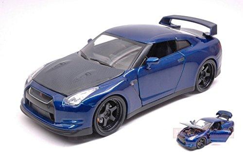 JADA TOYS JADA97036 BRIAN'S NISSAN GT-R 2009 FAST & FURIOUS 7 BLUE 1:24 DIE CAST