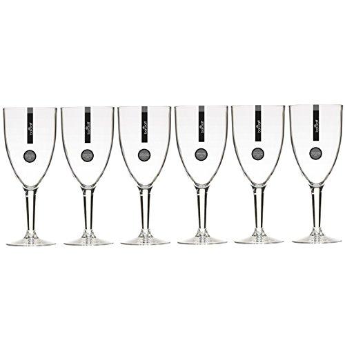 KitchenCraft Bar Craft Weingläser aus Polycarbonat, 300ml (10,5FL OZ) (klar), 6Stück, Set von 6 Polycarbonat Drinkware