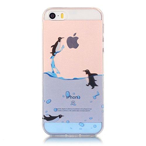 TPU Silikon Schutzhülle Handyhülle Painted pc case cover hülle Handy-Fall-Haut Shell Abdeckungen für Smartphone Apple iPhone 5 5S SE +Staubstecker (10FN) 5