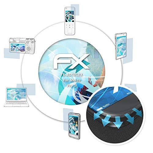 atFolix Schutzfolie passend für Meizu Pro 5 Folie, ultraklare & Flexible FX Bildschirmschutzfolie (3X)