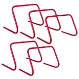 5er Set Koordinationshürde 30 cm rot