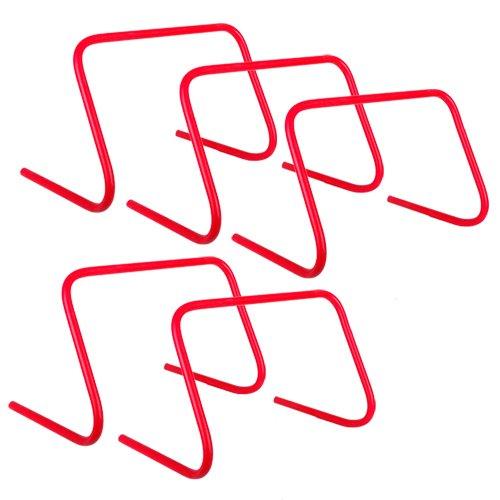 ScSPORTS 5er Set Koordinationshürde 30 cm rot