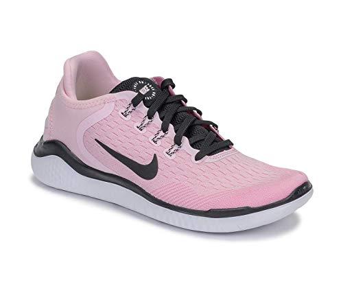 Nike Damen WMNS Free Rn 2018 Leichtathletikschuhe, Mehrfarbig Foam/Black/Pink Rise/White 603, 42 EU