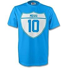 UKSoccershop Lionel Messi Argentina Crest tee (Sky Blue) - Kids