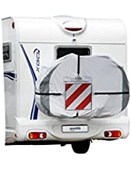 Hindermann Fahrradhülle Basic Zwoo für 3 Fahrräder, reflektierende Nähte Bikecover Schutzhülle