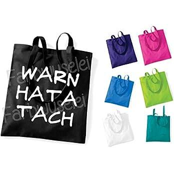 WARN HATA TACH War ein harter Tag Hessisch Platt Geschenk Tasche Beutel Einkaufstasche Stoffbeutel