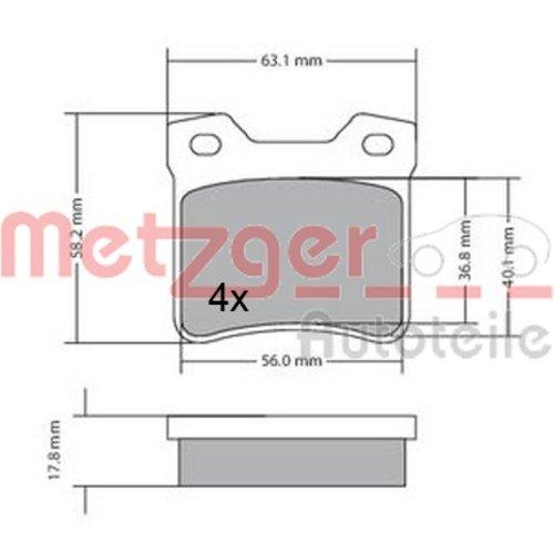 Preisvergleich Produktbild Metzger Bremsbeläge